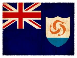 Grunge-Flagge Anguilla (Britisches Überseegebiet)